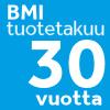BMI-tuotetakuu 30 vuotta